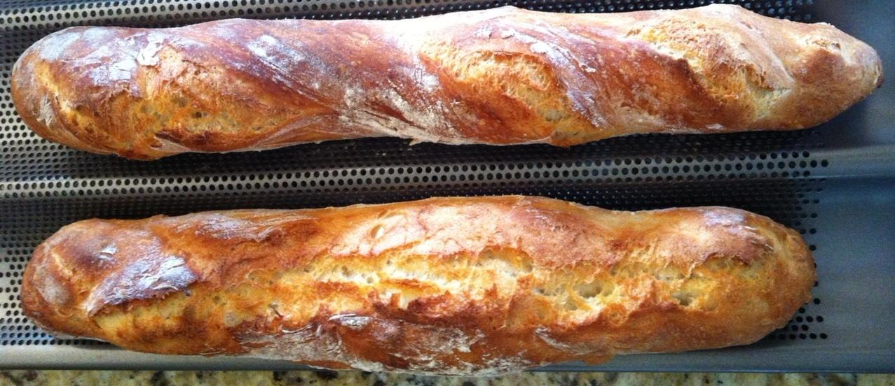 Les baguettes, c'est facile —-  Easy baguette bread