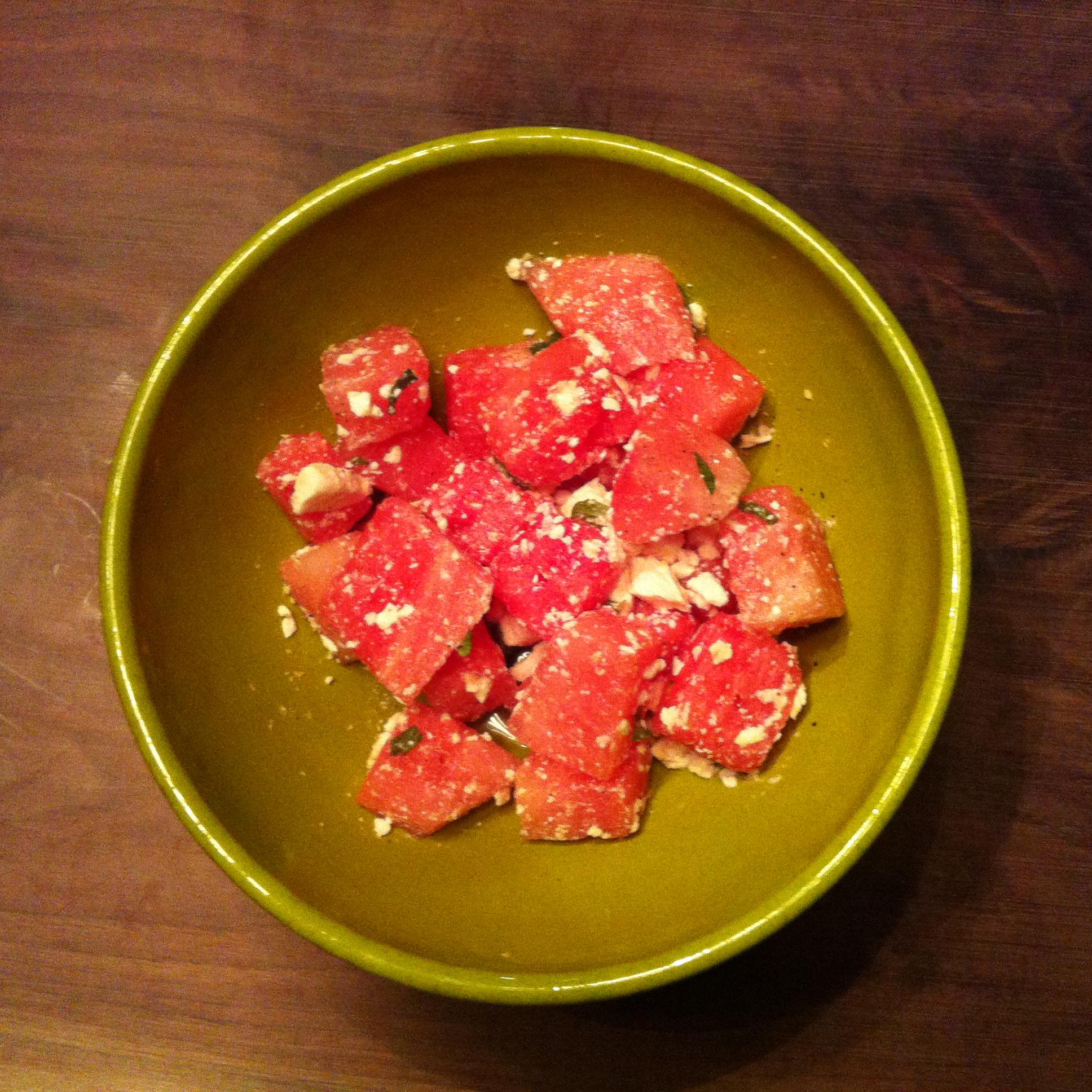 Salade pastèque & feta – Watermelon & feta salad