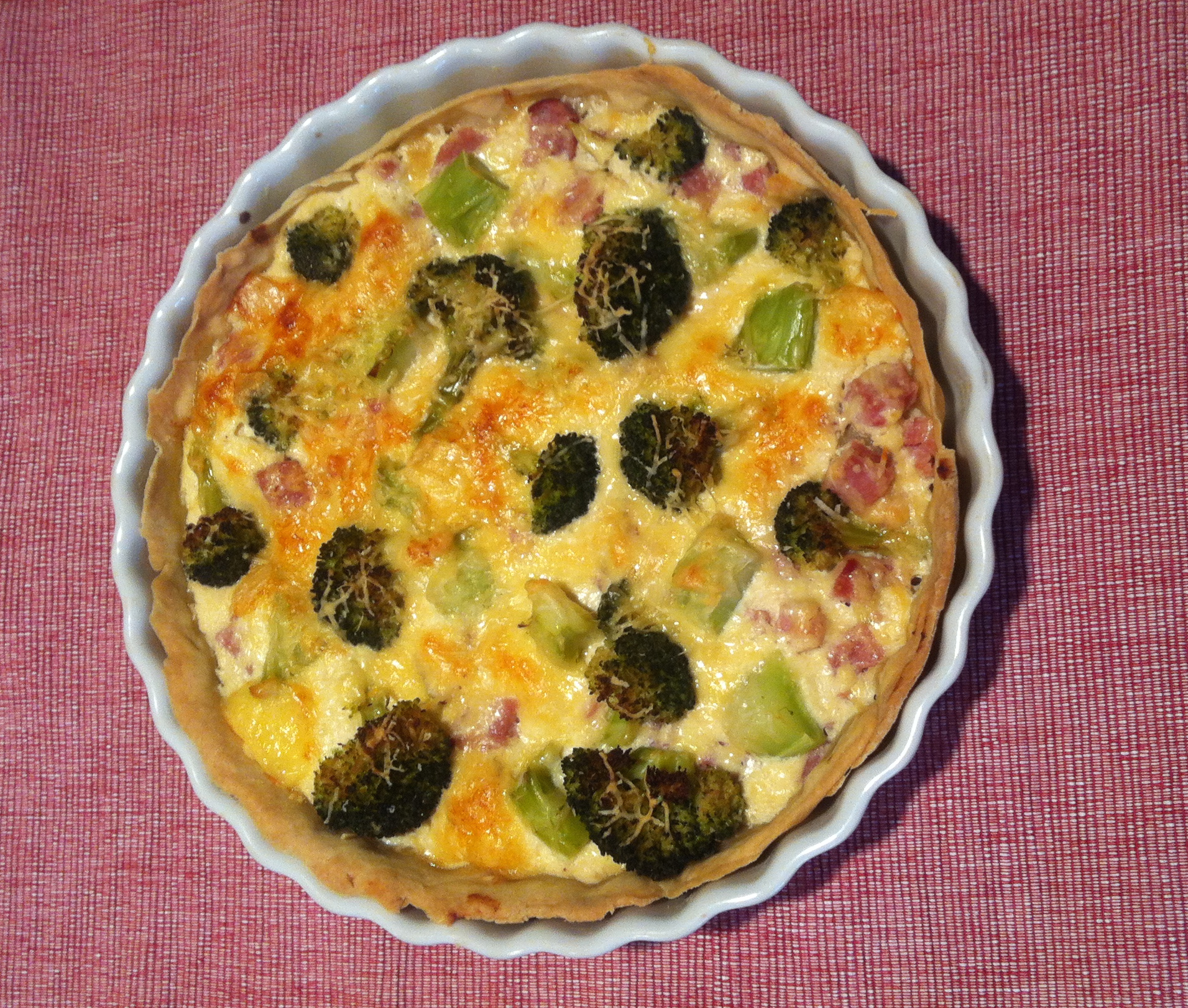 Tarte Brocoli et jambon – Broccoli and ham tart