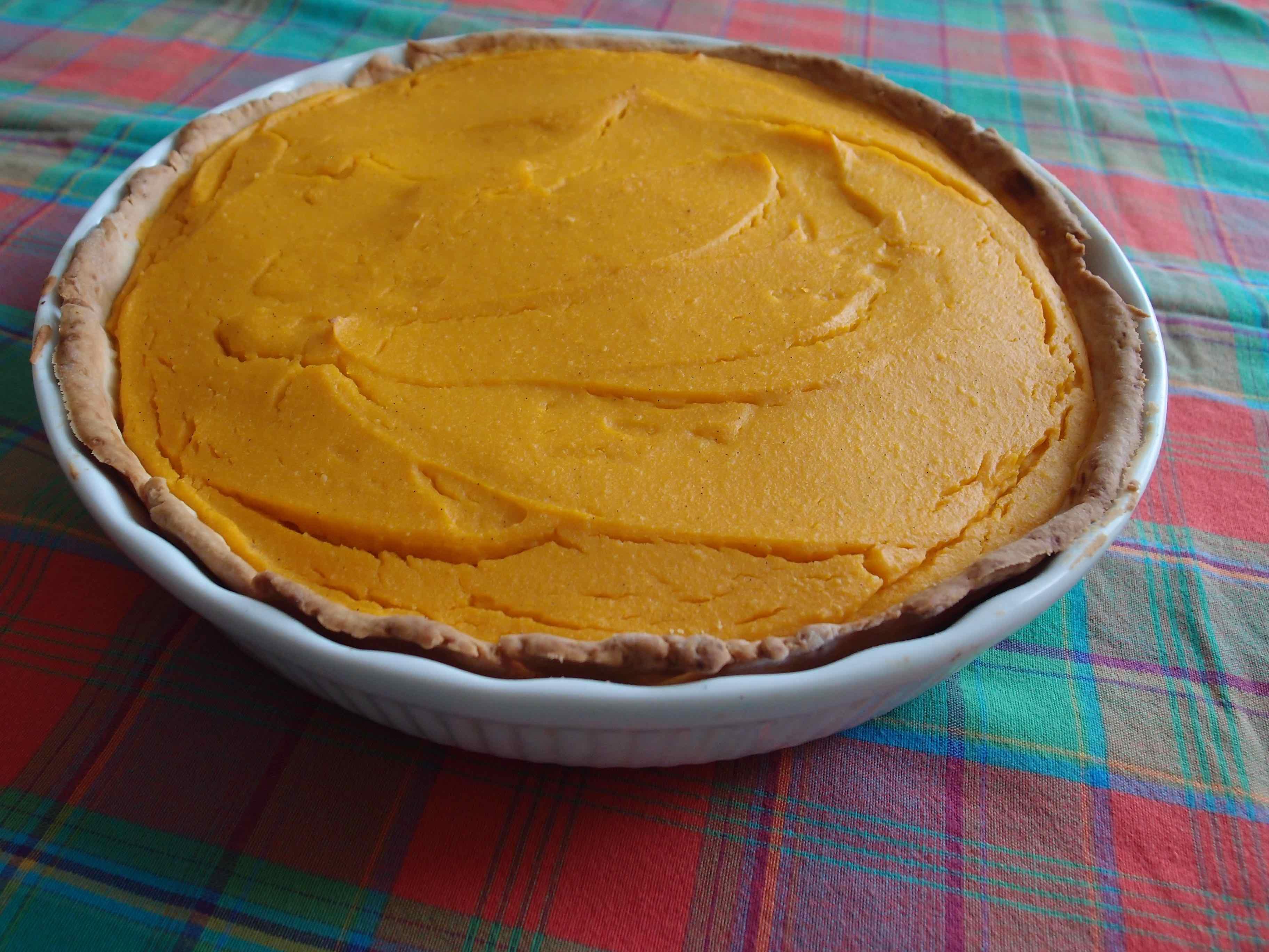 Tarte sucrée potiron et amandes – Pumpkin and almond tart