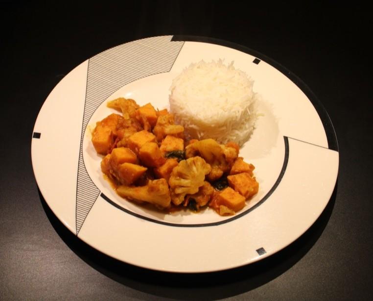 Curry de légumes aigre-doux – Sweet and sour vegetable curry