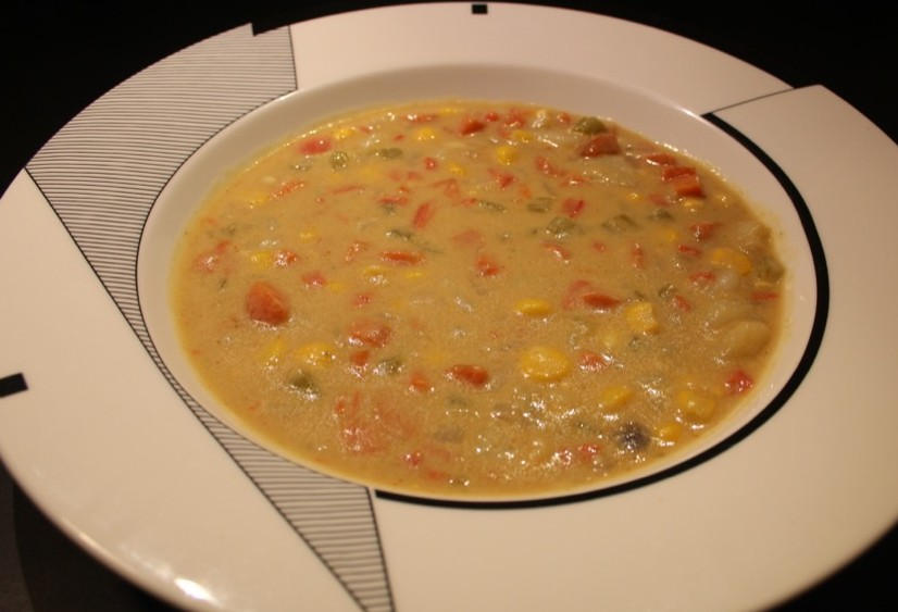 Soupe de légumes et cacahuètes – Vegetables and peanut soup