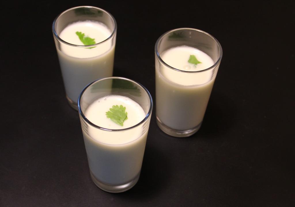 Soupe glacée pomme concombre – Chilled apple cucumber soup