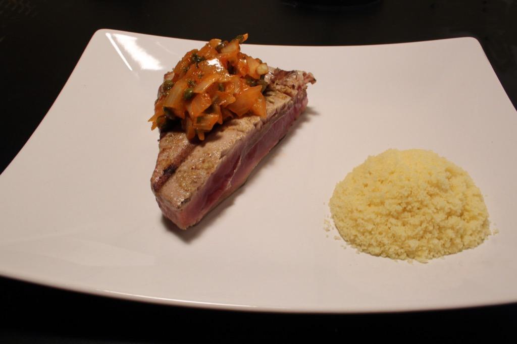 Steak de thon aux câpres – Tuna steak with capers