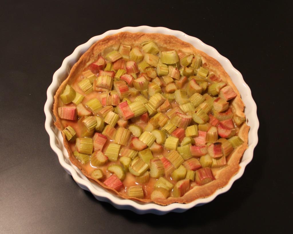 Tarte à la rhubarbe toute simple – Basic rhubarb tart