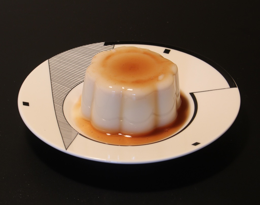 """Flanby"" au sirop d'érable –  vanilla pudding with maple syrup"