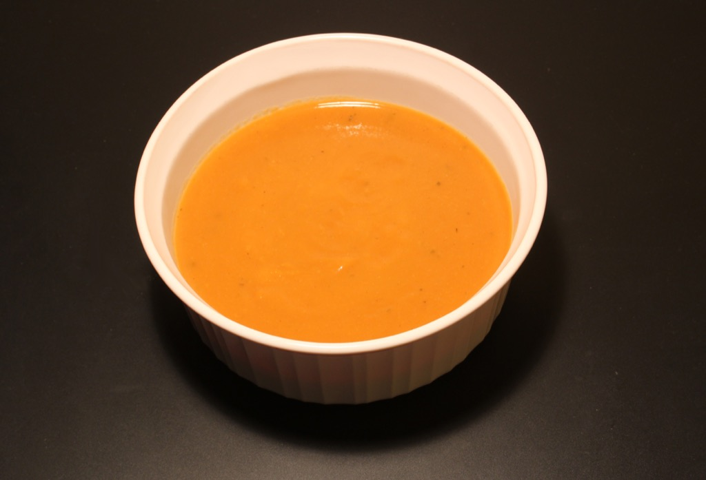 Soupe carotte, orange, gingembre  –  Carrot soup with orange and ginger