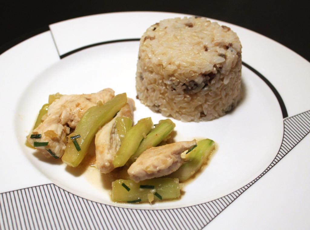 Poulet et concombre aux senteurs asiatiques – Chicken and cucumber with Asian influence