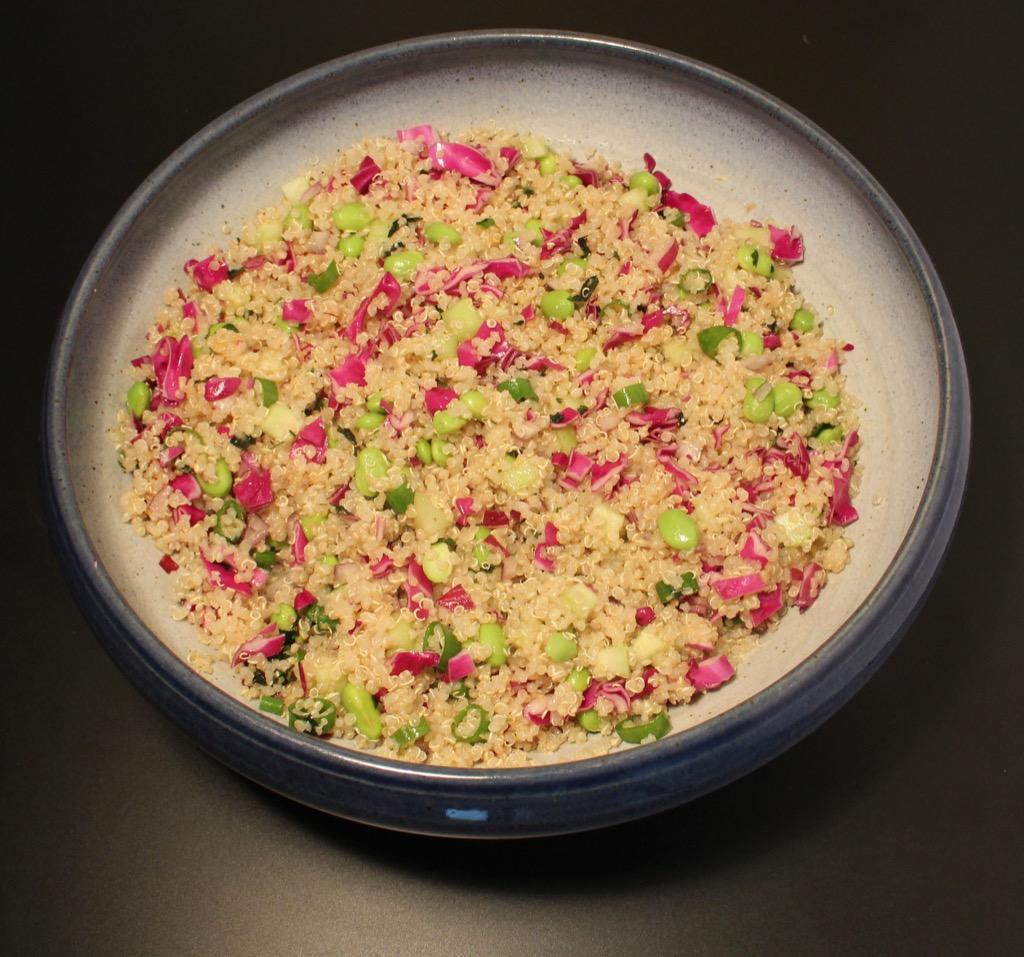 Salade rouge et verte au quinoa – Red and green quinoa salad