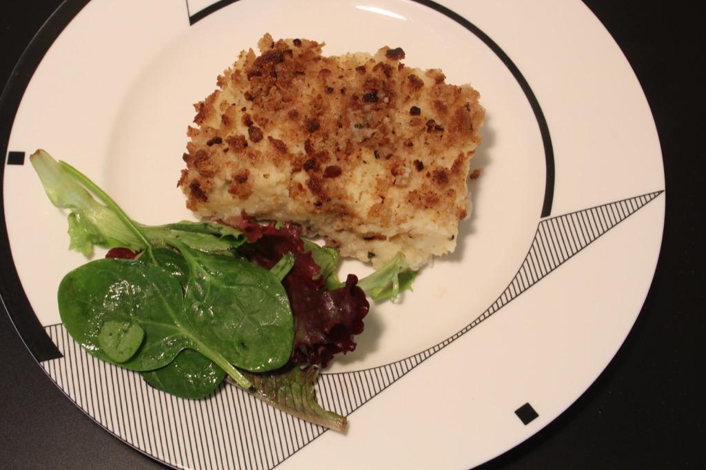 Parmentier de panais et céleri – Parsnip and celery root, Parmentier style