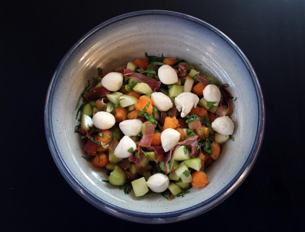 La Salade de Françoise (Melon, Concombre … ) – Françoise's Salad (Melon, Cucumber … )
