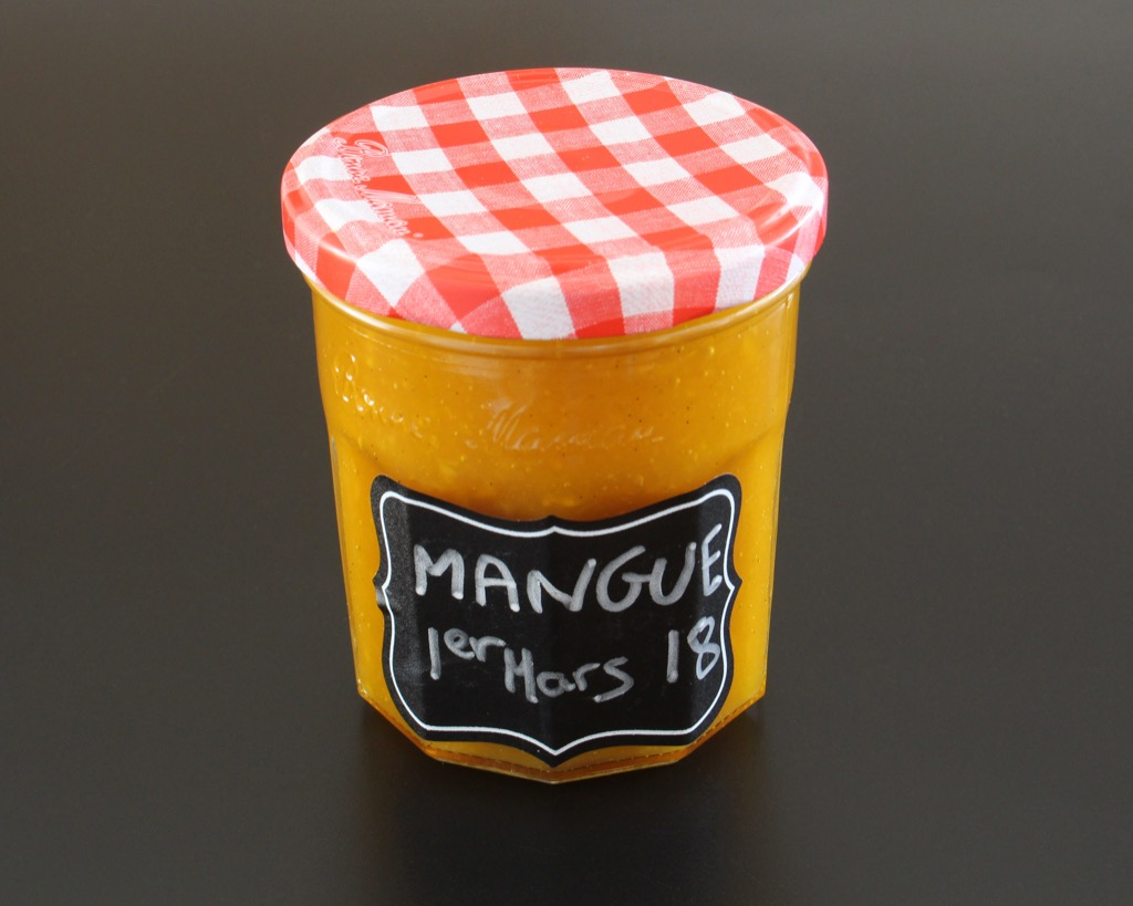 Confiture de mangues vanillée –  Mango jam with vanilla